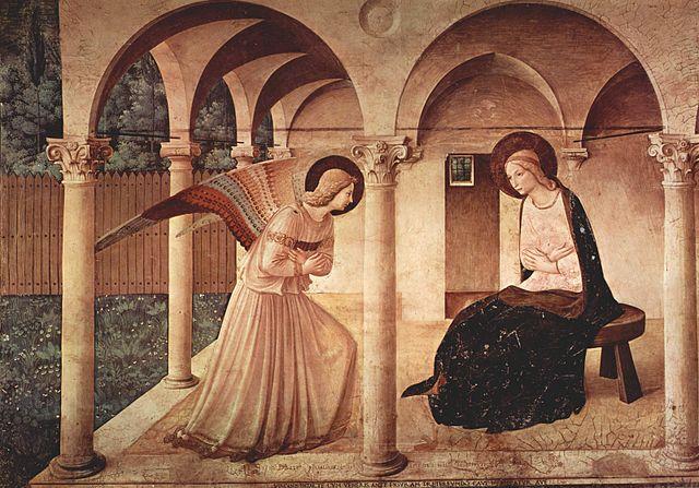 L'Annonciation de Fra Angelico, peint entre 1437 et 1446