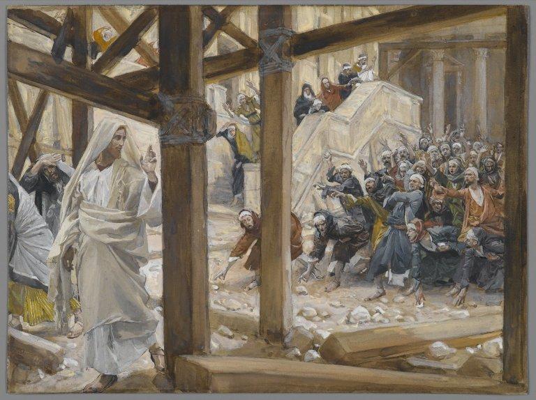 Les ennemis de Jésus veulent le lapider
