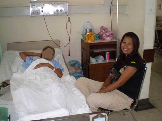 Gi visitant mon amie à l'hôpital