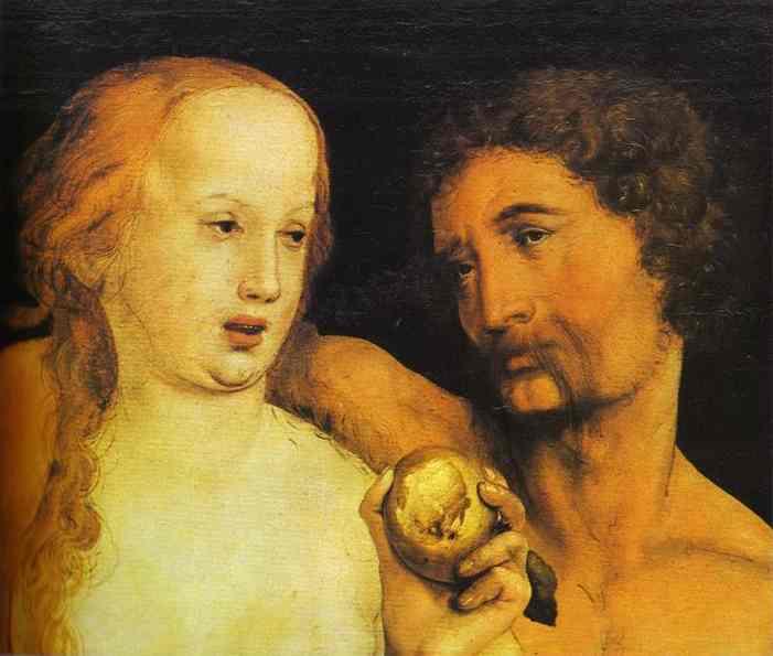 Adam et Ève, peinture de Hans Holbein le jeune, 1517