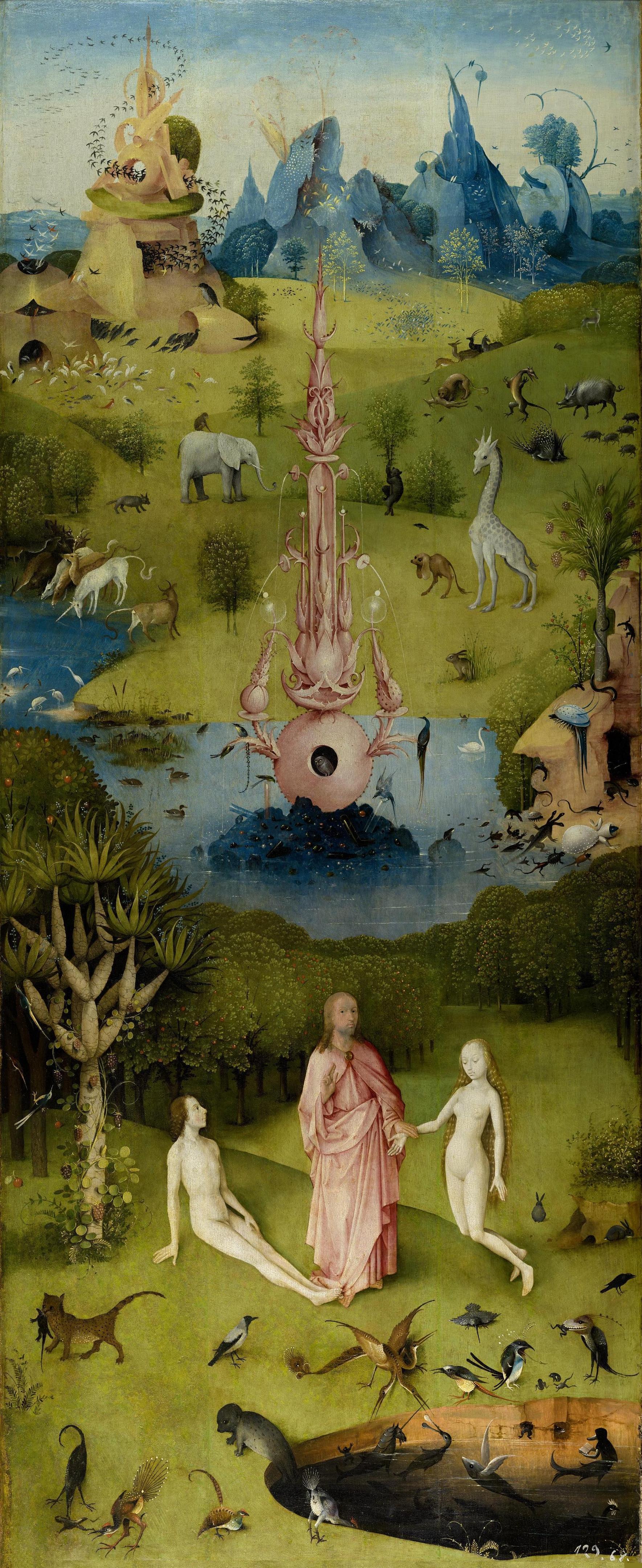 Le jardin des délices terrestres, Jérôme Bosch, peint entre 1480 et 1505