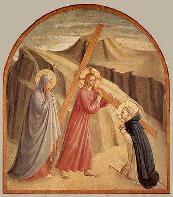 Jésus porte sa Croix - Fra Angelico