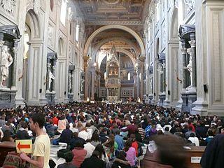 Rome - Basilique Saint-Jean-de-Latran - Rencontres européennes de la communauté œcuménique de Taizé 2012, photo Peter Potrowl