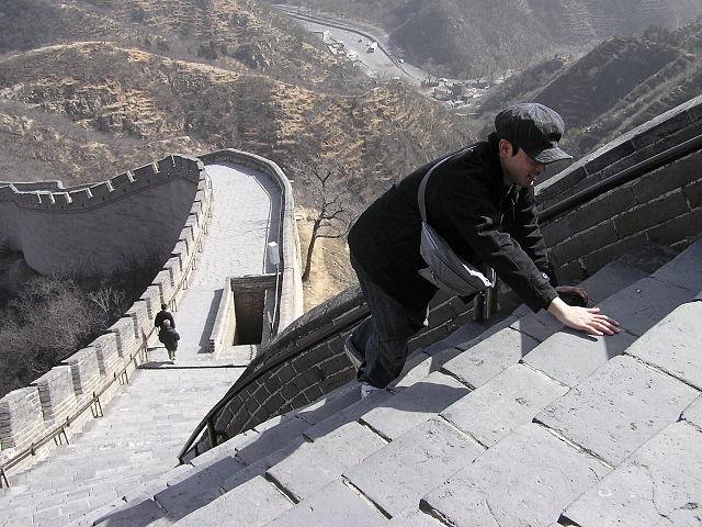 Escalier de pierres sur la Grande Muraille de Chine à Badaling - Photo Yo Hibino