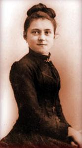 Ste Thérèse de Lisieux à 15 ans, peu de temps avant d'entrer au Carmel