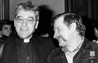 Le cardinal Lustiger et Lech Wałęsa