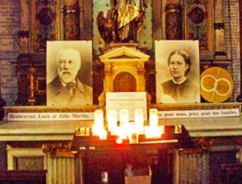 Portraits de Louis et Zélie Martin à Notre Dame des Victoires à Paris