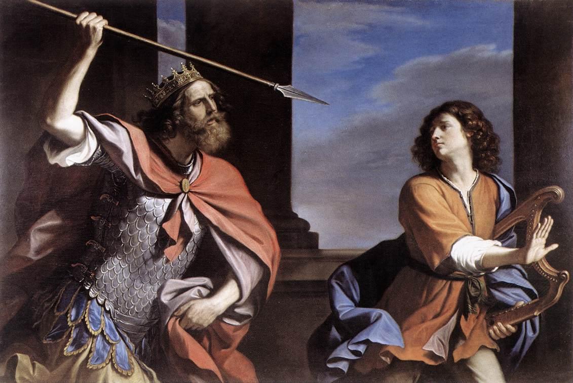 Dans la Bible, la jalousie du roi Saul envers David devient une obsession et détruit sa vie