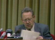 Günter Schabowski le 9 novembre 1989