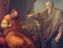 Nathan révèle son péché au roi David