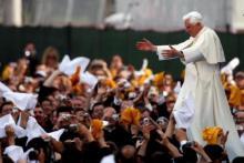 Le pape Benoît XVI lors de la Journée Mondiale de la Jeunesse à Madrid en 2011