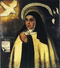 Sainte Thérèse d'Avila recevant l'Esprit Saint, par Fray Juan de la Miseria