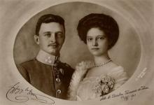 L'empereur Charles d'Autriche et son épouse Zita