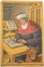 Saint Luc écrivant son Évangile - Livre d'heures du roi Louis XII